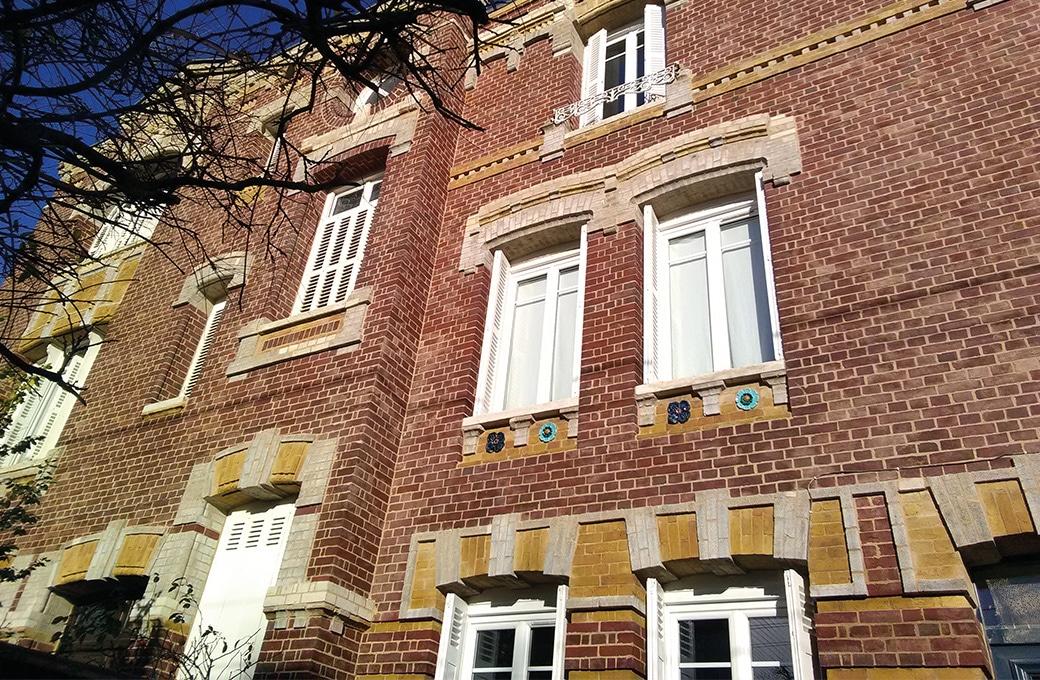 Rejointoiement de briques à Rouen